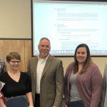 ESD staff receiving certificates