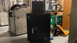 Large black safe