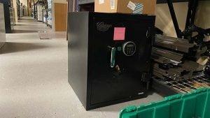 Medium sized black safe